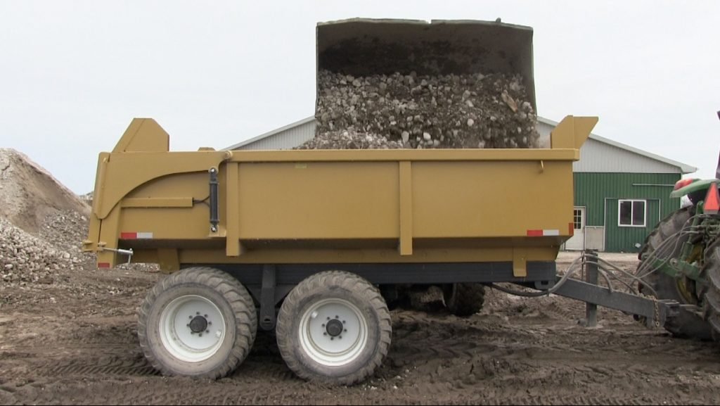 16 ton heavy duty hydraulic farm dump trailer 2018 2
