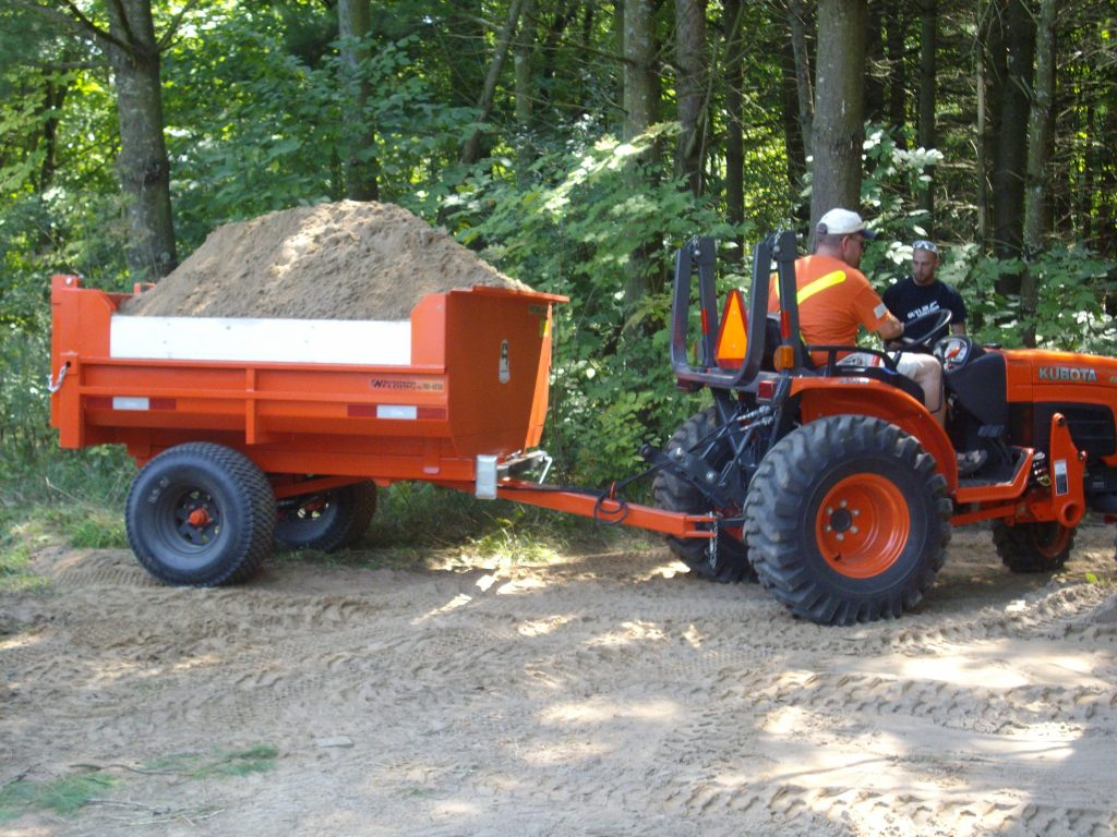 2 ton hydraulic farm dump trailer