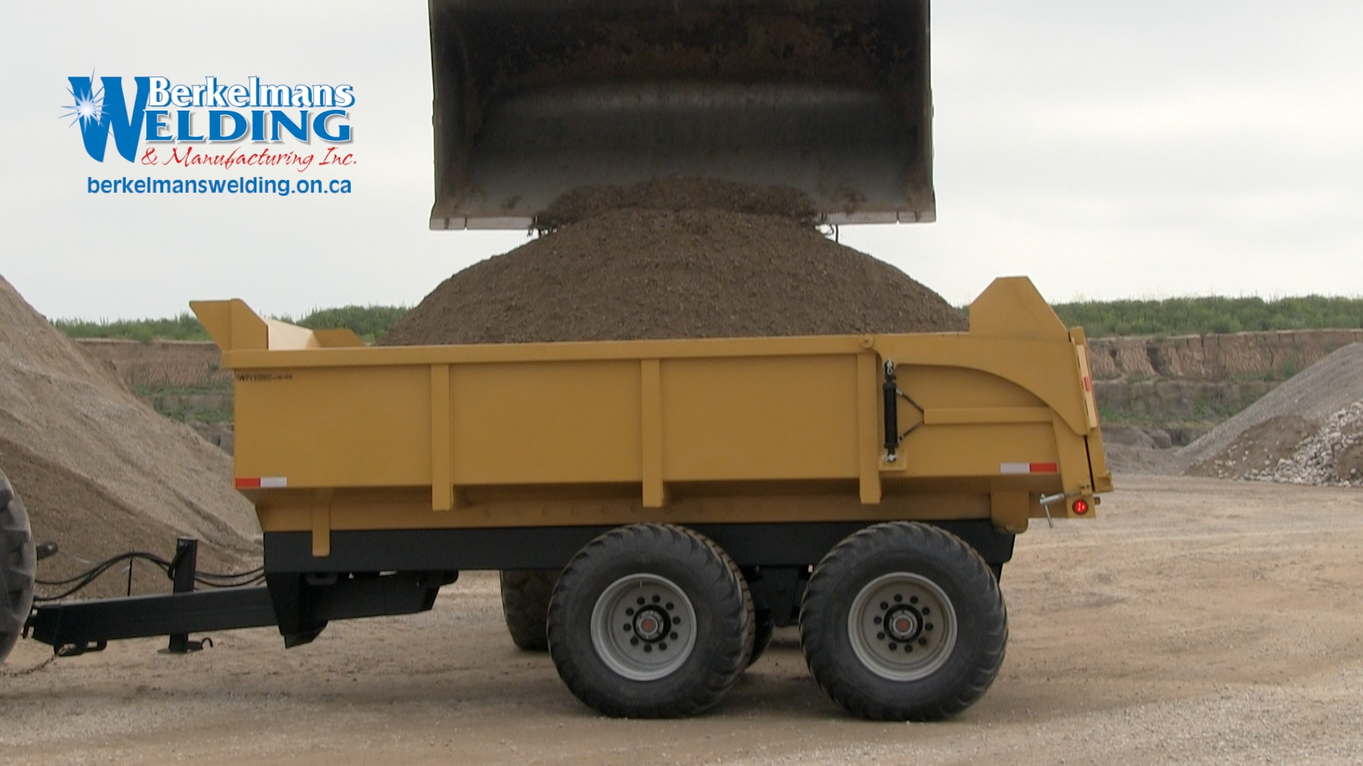 heavy duty 20 ton farm dump trailer