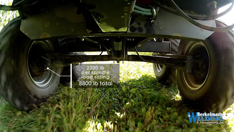 Tandem 2 ton hydraulic Big Lil Dumper Trailer