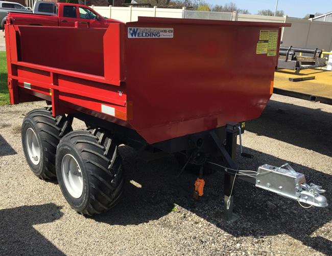 2 ton off road hydraulic trailer by berkelmans welding made in canada